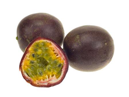 fresh passionfruit isolated on a white background Stock Photo - 2815350