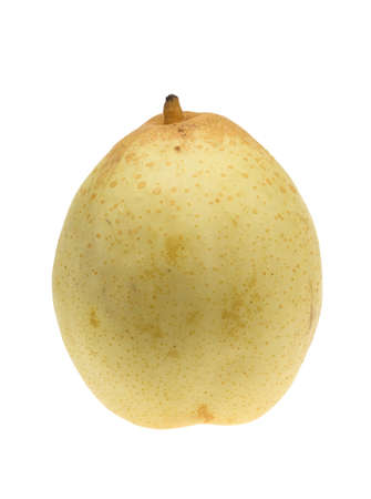 asian pear: fresh asian pear isolated on a white background (Pyrus pyrifolia)