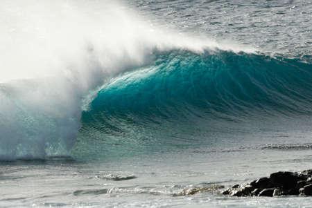 shorebreak: close-up of a beautiful ocean wave