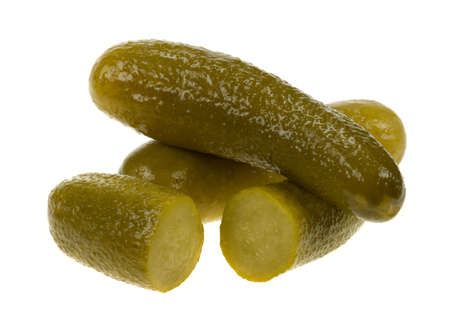 gherkin( dill pickle) isolated on a white background photo