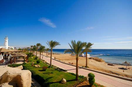 schönen Strand und Meer in Sharm el Sheikh, Ägypten Lizenzfreie Bilder