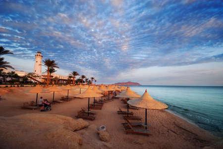 Schönen Strand und Meer in Sharm el Sheikh, Ägypten  Standard-Bild - 3198797