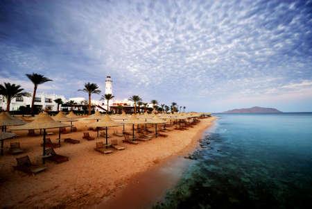 Schönen Strand und Meer in Sharm el Sheikh, Ägypten Standard-Bild - 3198787