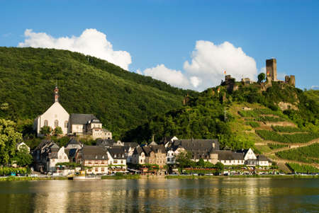 Beautiful village of beilstein germany along the mosel river in germany