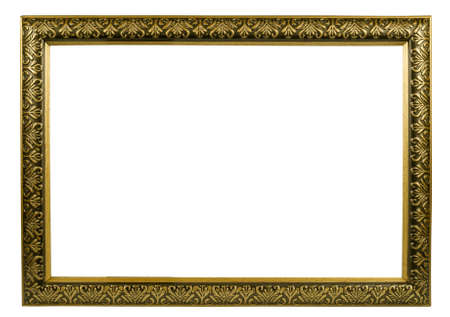 classic golden frame with decorative pattern Stock Photo - 3444331