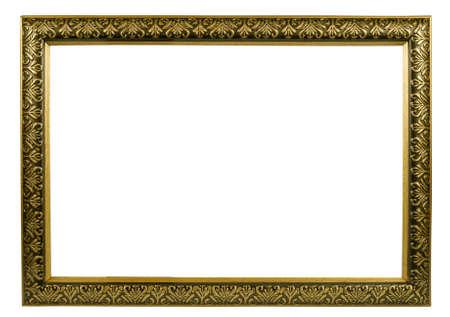 classic golden frame with decorative pattern Zdjęcie Seryjne