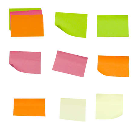 colored sticky notes isolated on a white background Stock Photo - 3496146
