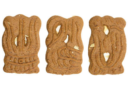 speculaas: speculaas ( a typical dutch cookie) isolated on a white background Stock Photo