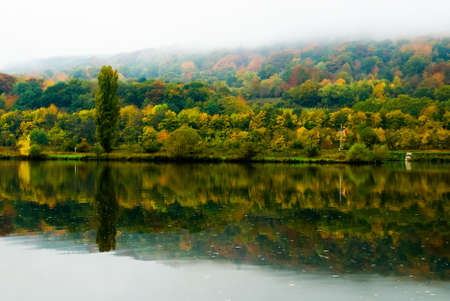 autumn colors at the mosel river in germany Stock Photo - 3727396