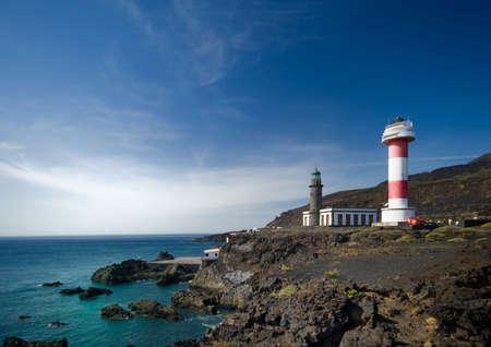 el: Light houses in El Faro, La Palma, canary islands, spain