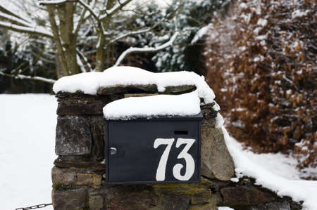a mailbox in winter with snow Stock Photo - 4020823