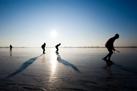 wintersports: ice skating in the netherlands