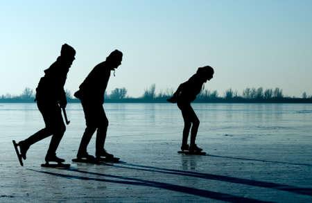 Eislaufen in den Niederlanden Standard-Bild - 4091493