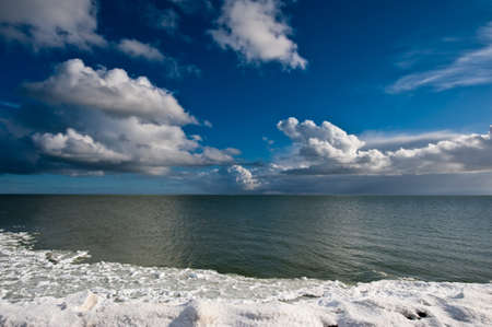 rozen winter landscape in the netherlands  photo