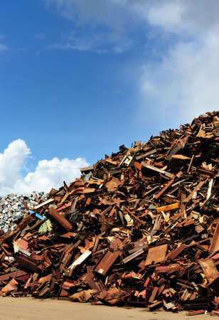 discarded metal: Scrap yard in Amsterdam The Netherlands Stock Photo