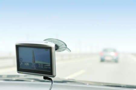 Using gps navigation on the road