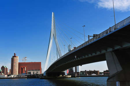 Erasmus bridge in Rotterdam the Netherlands, Europe photo