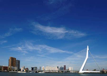 maas: Erasmus bridge in Rotterdam the Netherlands, Europe Stock Photo