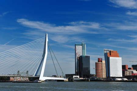 rotterdam: Erasmus bridge in Rotterdam the Netherlands, Europe Stock Photo