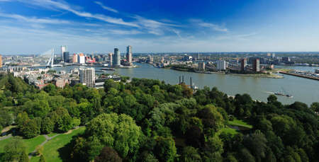 aerial view of  Rotterdam in the Netherlands, Europe