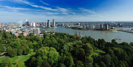 Vista aérea de Rotterdam en los Países Bajos, Europa Foto de archivo