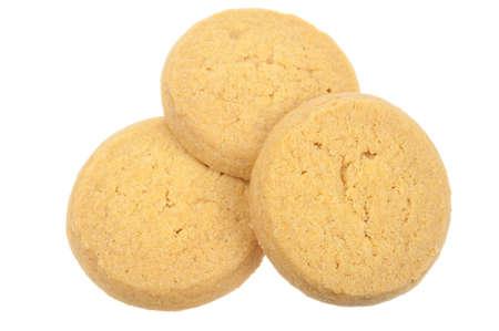 Butter-Cookies, die auf einem weißen Hintergrund isoliert Lizenzfreie Bilder - 5900514