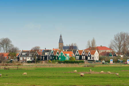 Marken a small village near Amsterdam in The Netherlands Foto de archivo