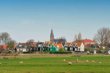 Marken, un pequeño pueblo cerca de Ámsterdam en los Países Bajos