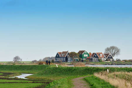 marken: Marken a small village near Amsterdam in The Netherlands Stock Photo