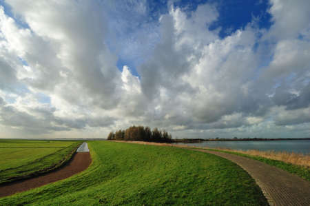 Typical country landscape in Marken The Netherlands (near Amsterdam) photo