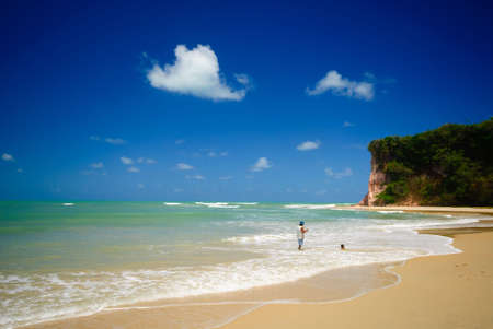 Beautiful beach at Baia dos Golfinhos near pipa Brazil photo