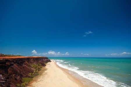 brazil beach: Cliffs and beach at Praia das Minas near Pipa Brazil Stock Photo