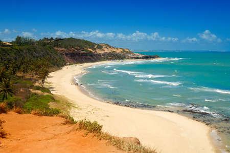 Wunderschönen Strand mit Palmen am Praia tun Amor in der Nähe Pipa-Brasilien Lizenzfreie Bilder - 6063989