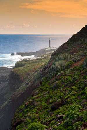 palma: The lighthouse at Punta Cumplida in Barlovento, La Palma, Canary islands, Spain