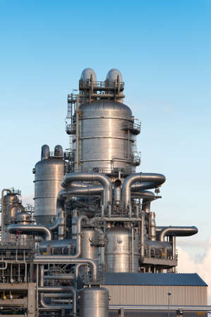 Oil refinery at the Maasvlakte in Holland photo