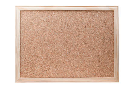 Blank cork board with a wooden frame isolated on a white background Stock Photo - 8989988