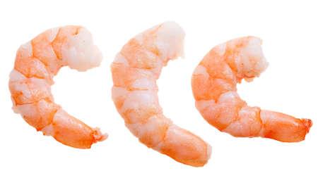 prepared shrimp: prepared shrimp isolated on a white background