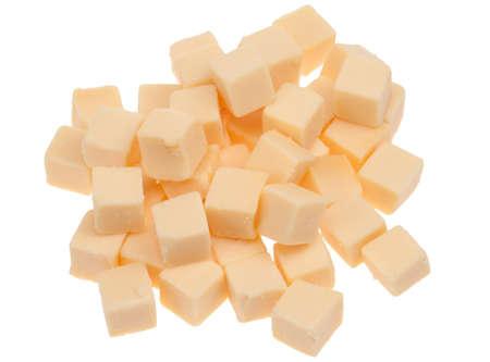 Blöcke auf weißem hintergrund isoliert Käse