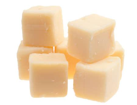 Blöcke auf weißem hintergrund isoliert Käse Lizenzfreie Bilder - 9107899