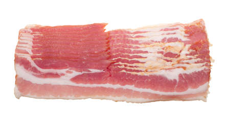 Stücke Roh Speck isolated on a white background