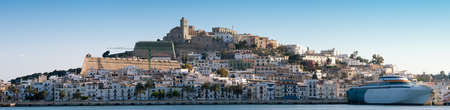 Panorama image of Ibiza town , Spain, Europe Фото со стока