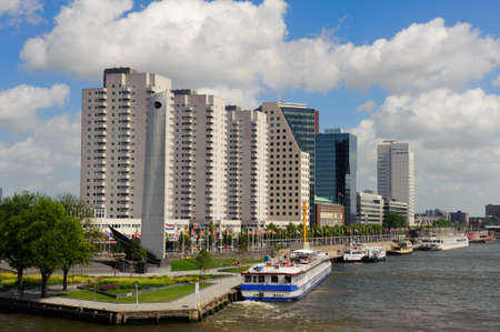 meuse: Rotterdam skyline and the meuse river the Netherlands, Europe