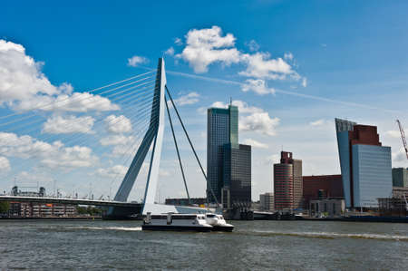 Erasmus bridge in Rotterdam the Netherlands, Europe Stock Photo - 9751075