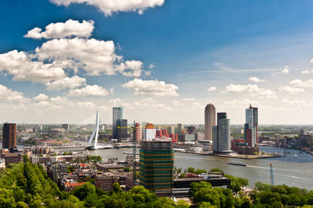 aerial view of  Rotterdam in the Netherlands, Europe Stock Photo - 9751019