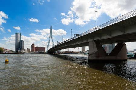 Erasmus bridge in Rotterdam the Netherlands, Europe photo