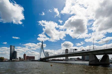 Erasmus bridge in Rotterdam the Netherlands, Europe Фото со стока