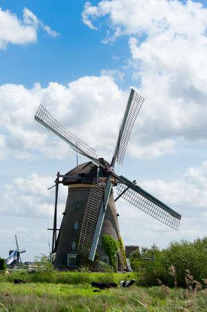 Windm? Landschaft am Kinderdijk in der N? Rotterdam Niederlande