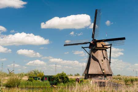 Windm?hle Landschaft am Kinderdijk in der N?he Rotterdam Niederlande