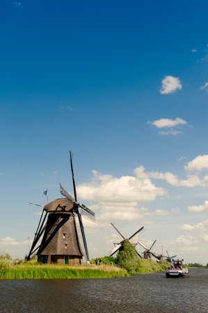 Windmill landscape at Kinderdijk near Rotterdam The Netherlands Stock Photo - 9749447