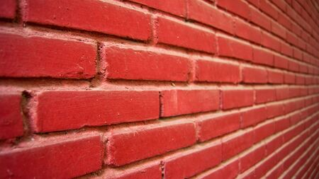 red brick at wall